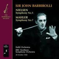 マーラー:交響曲第7番『夜の歌』、ニールセン:交響曲第5番 バルビローリ&ハレ管+BBCノーザン響(合同演奏)(1960)(2CD)