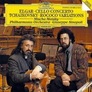 エルガー:チェロ協奏曲、チャイコフスキー:ロココの主題による変奏曲 ミッシャ・マイスキー、ジュゼッペ・シノーポリ&フィルハーモニア管弦楽団