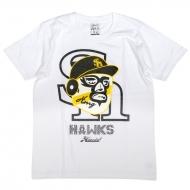 Tシャツ白【L】 / ホークス×ハオミン【Loppi・HMV限定】