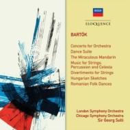 管弦楽のための協奏曲、『弦楽器、打楽器とチェレスタのための音楽』、『中国の不思議な役人』組曲、他 ショルティ&ロンドン響、他(2CD)