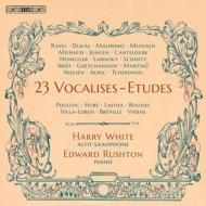 23のヴォカリーズ・エチュード ハリー・ホワイト(アルト・サックス)、エドワード・ラシュトン(ピアノ)
