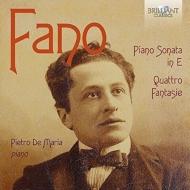 ピアノ・ソナタ、4つの幻想曲 ピエトロ・デ・マリア
