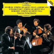 ドヴォルザーク:『アメリカ』、チャイコフスキー:弦楽四重奏曲第1番、ボロディン:弦楽四重奏曲第2番 エマーソン弦楽四重奏団
