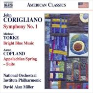 コリリアーノ:交響曲第1番、コープランド:アパラチアの春、トーク:明るく青い音楽 ミラー&ナショナル・オーケストラ・インスティテュート・フィルハーモニック