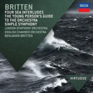 Young Person's Guide to the Orchestra, Simple Symphony, etc : Britten / LSO, ECO, etc