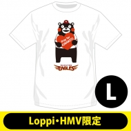 【2回目】復興支援Tシャツ 東北楽天ゴールデンイーグルス(L)【Loppi・HMV限定】/ くまモン×パ・リーグ