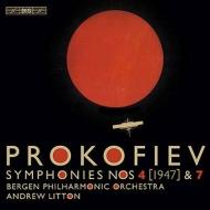 交響曲第4番(改訂版)、第7番、第7番終楽章の異稿 アンドルー・リットン&ベルゲン・フィルハーモニー管弦楽団