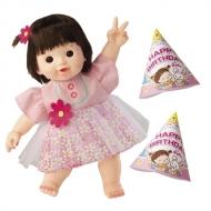 ぽぽちゃん やわらかお肌タイプ2歳のぽぽちゃん お花のチュールレイヤードワンピ