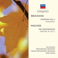 Bruckner Symphony No.4, Wagner Meistersinger Prelude for Act.1 : Mehta / Los Angeles Philharmonic, Vienna Philharmonic