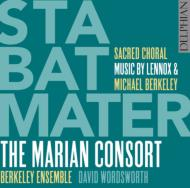 Stabat Mater, Mass, Judica Me: Wordsworth / Marian Consort Berkeley Ensemble +m.berkeley