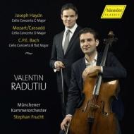 ハイドン:チェロ協奏曲第1番、モーツァルト:ホルン協奏曲第3番(チェロ版)、C.P.E.バッハ:チェロ協奏曲 ファレンティン・ラドゥティウ、フルフト&ミュンヘン室内管