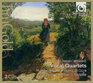 四重唱曲集〜ブラームス:愛の歌、シューマン:スペインの恋の歌、他 マリス・ペーターゼン、ヴェルナー・ギューラ、コンラッド・ジャーノット、他(2CD)