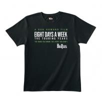 Eight Days A Week Logo Black Tee M