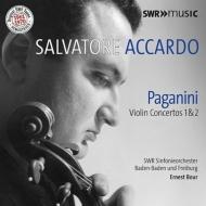 ヴァイオリン協奏曲第1番、第2番、カプリース第24番、他 サルヴァトーレ・アッカルド、エルネスト・ブール&南西ドイツ放送交響楽団、他