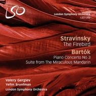 ストラヴィンスキー:『火の鳥』全曲、バルトーク:組曲『中国の不思議な役人』、他 ワレリー・ゲルギエフ&ロンドン交響楽団、イェフィム・ブロンフマン(2CD)