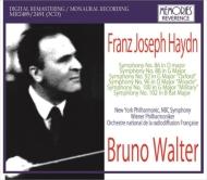 交響曲集 ブルーノ・ワルター&ニューヨーク・フィル、ウィーン・フィル、フランス国立放送管弦楽団、NBC交響楽団(3CD)
