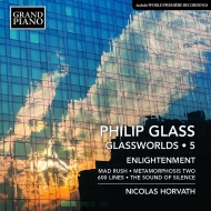 グラスワールド第5集〜マッド・ラッシュ、サウンド・オブ・サイレンス(グラス編曲ピアノ版)、600ラインズ ニコラス・ホルヴァート