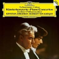 シューマン:ピアノ協奏曲、グリーグ:ピアノ協奏曲 クリスティアン・ツィマーマン、ヘルベルト・フォン・カラヤン&ベルリン・フィル (180グラム重量盤レコード)