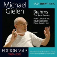 Complete Symphonies, Piano Concerto No.1, Double Concerto, Piano Quartet No.1 : Michael Gielen / SWR Symphony Orchestra, etc (Gielen Edition Vol.3)(5CD)
