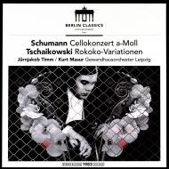 シューマン:チェロ協奏曲、チャイコフスキー:ロココの主題による変奏曲 ユルンヤーコブ・ティム、クルト・マズア&ゲヴァントハウス管(180グラム重量盤)