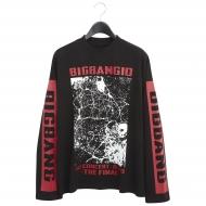 ロングTシャツ(BLACK)【L】
