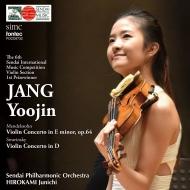 メンデルスゾーン:ヴァイオリン協奏曲、ストラヴィンスキー:ヴァイオリン協奏曲 チャン・ユジン、広上淳一&仙台フィル