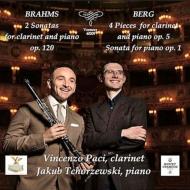 ブラームス:クラリネット・ソナタ第1番、第2番、ベルク:4つの小品、ピアノ・ソナタ ヴィンチェンツォ・パーチ、ヤクブ・チョルツェウスキ