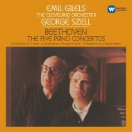 Complete Piano Concertos, Variations : Emil Gilels(P)George Szell / Cleveland Orchestra (3CD)