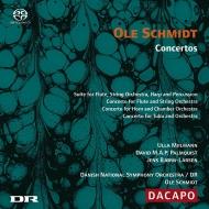 フルート協奏曲、ホルン協奏曲、チューバ協奏曲 ミルマン、パルムクヴィスト、ビョルン=ラーセン、オーレ・シュミット&デンマーク国立交響楽団