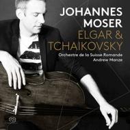 エルガー:チェロ協奏曲、チャイコフスキー:ロココの主題による変奏曲、アンダンテ・カンタービレ ヨハネス・モーザー、アンドルー・マンゼ&スイス・ロマンド管弦楽団
