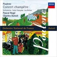 シンフォニエッタ、田園のコンセール、フランス組曲、組曲『牝鹿』 シャルル・デュトワ&フランス国立管弦楽団、パスカル・ロジェ