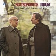 Dvorak Cello Concerto, Saint-Saens Cello Concerto No.1 : Mstislav Rostropovich(Vn)Carlo Maria Giulini / London Philharmonic (2LP)