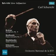 Brahms Symphony No.4, Beethoven, Mendelssohn : Carl Schuricht / French National Radio Orchestra, Arrau(P)Grumiaux(Vn)(1959,63 Stereo)(2CD)