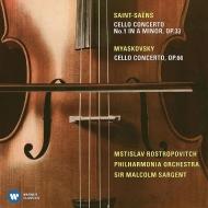 サン=サーンス:チェロ協奏曲第1番、ミャスコフスキー:チェロ協奏曲 ムスティスラフ・ロストロポーヴィチ、マルコム・サージェント&フィルハーモニア管弦楽団