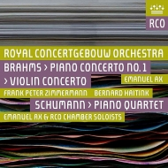 Violin Concerto, Piano Concerto No.1 : Frank Peter Zimmermann(Vn)Emanuel Ax(P)Bernard Haitink / Concertgebouw Orchestra +Schuamnn (2SACD)(Hybrid)