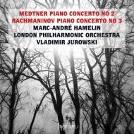 ラフマニノフ:ピアノ協奏曲第3番、メトネル:ピアノ協奏曲第2番 マルカンドレ・アムラン、ヴラディーミル・ユロフスキー&ロンドン・フィル