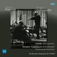Dvorak Cello Concerto, Schubert Symphony No.8, etc : Pierre Fournier(Vc)Sergiu Celibidache / French National Radio Orchestra (2LP)
