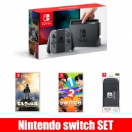 Nintendo Switch Joy-Con(L)/(R)グレー【ソフト2本+Hard Case for Nintendo Switchセット】
