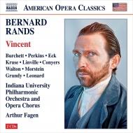 歌劇『ヴィンセント』全曲 アーサー・フェイゲン&インディアナ大学フィル、クリストファー・バーケット、ウィル・パーキンス、他(2011 ステレオ)(2CD)