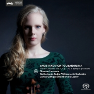 ショスタコーヴィチ:ヴァイオリン協奏曲第1番、グバイドゥーリナ:今この時の中で シモーネ・ラムスマ、ガフィガン、デ・レーウ、オランダ放送フィル