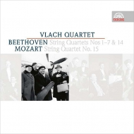 Beethoven String Quartets Nos.1, 2, 3, 4, 5, 6, 7, 14, Mozart String Quartet No.15 : Vlach Quartet (4CD)