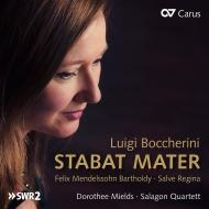 Boccherini Stabat Mater, Mozart String Quartet No.16, Mendelssohn : Dorothee Mields(S)Salagon Quartet, Shalinsky(CB)