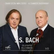 無伴奏チェロ組曲全曲、チェロ・ソナタ全曲、フランス組曲全曲 アレクサンドル・ザゴリンスキー、アイナル・ステーン=ノックレベルク(5CD)