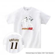 Tシャツ(背番号あり)白/XL|大谷翔平 ×高橋陽一 コラボグッズ