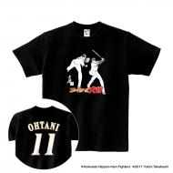 Tシャツ(背番号あり)黒/S|大谷翔平 ×高橋陽一 コラボグッズ