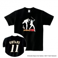 Tシャツ(背番号あり)黒/XL|大谷翔平 ×高橋陽一 コラボグッズ