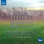 交響曲、ハープ協奏曲 ダミアン・イオリオ&イタリア国立放送交響楽団、マルゲリータ・バッサーニ