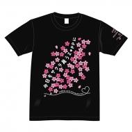 「今日もサクラ舞うZeppに」Tシャツ(Sサイズ/黒)/CHiCO with HoneyWorks