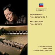 ラフマニノフ:ピアノ協奏曲第3番、ハチャトゥリアン:ピアノ協奏曲 アリシア・デ・ラローチャ、プレヴィン&ロンドン響、フリューベック・デ・ブルゴス