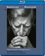 ベートーヴェン(1770-1827)/Sym 5 Triple Concerto: Blomstedt / Lgo I.faust(Vn) Queyras(Vc) Helmchen(P)